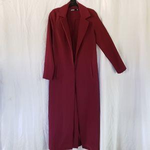 Missguided Burgundy Coat
